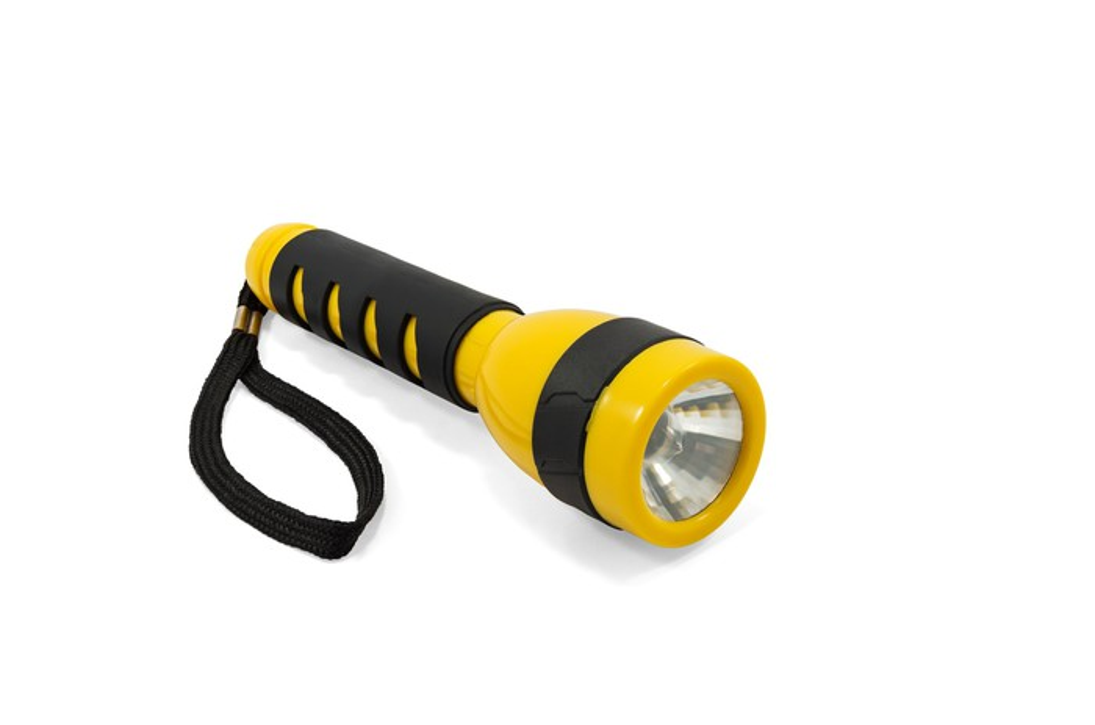 A yellow and black flashlight.