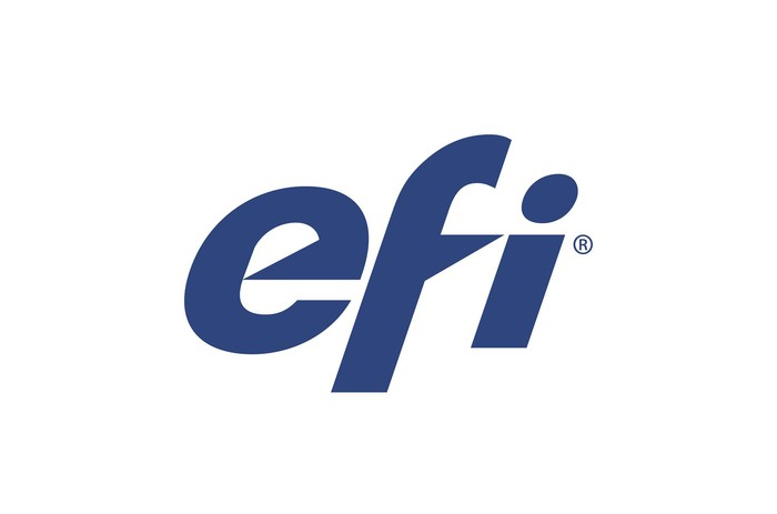 Electronics for Imaging EFI logo, blue