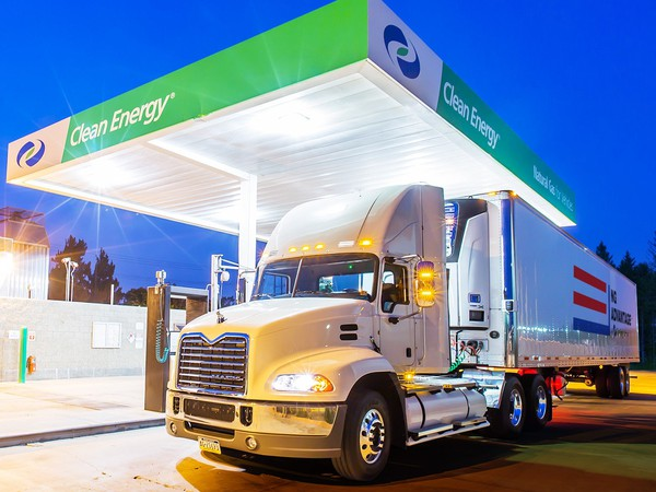 Clean Energy Fuels Truck at Natural Gas Filling Station