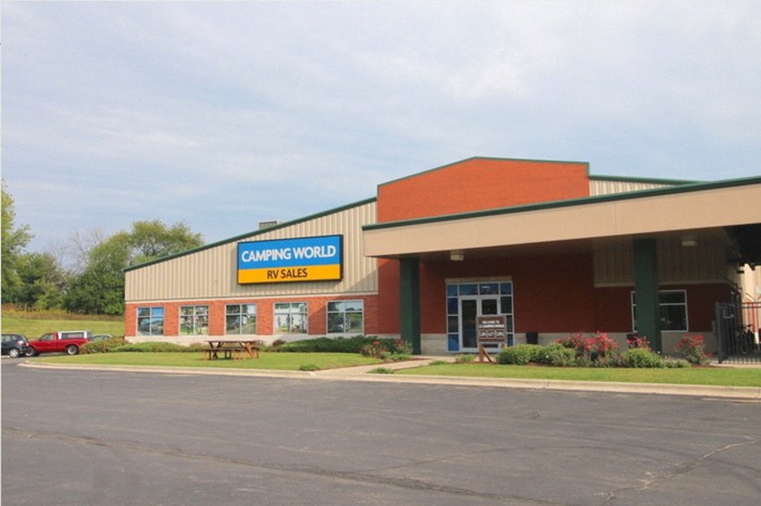 An outside view of a Camping World store.