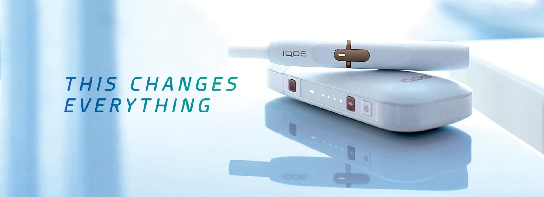 Philip Morris iQOS heated tobacco unit.