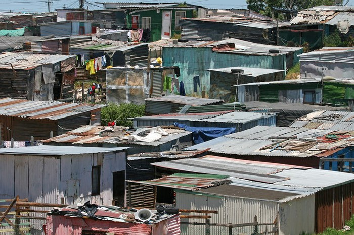 A collection of shacks inhabited by the poor.