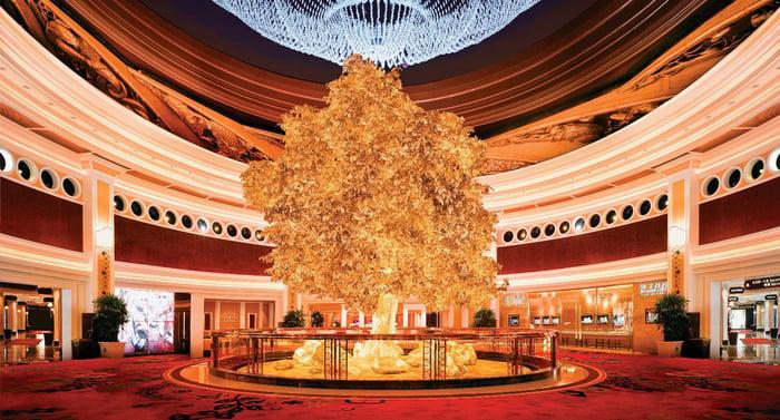 The interior of the Wynn Macau.