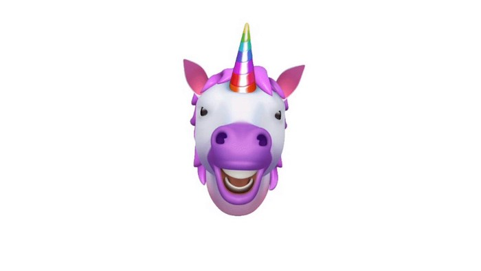 iPhone X unicorn Animoji