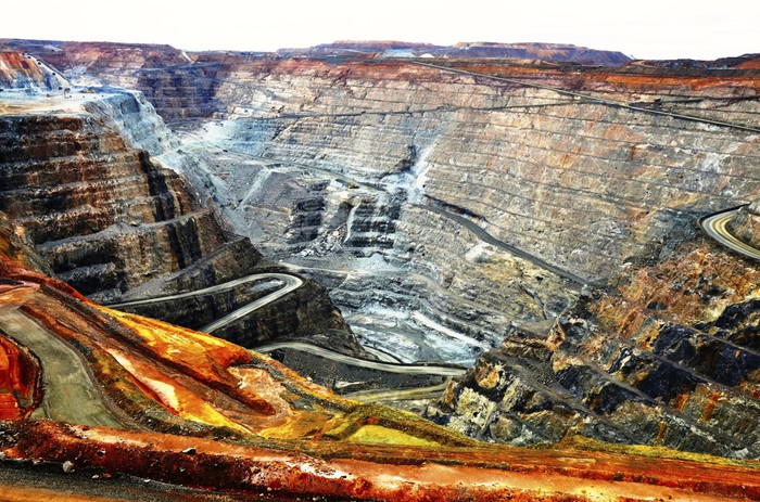 An open-pit gold mine