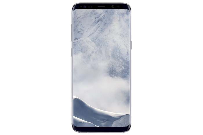 The front of the Samsung Galaxy S8.