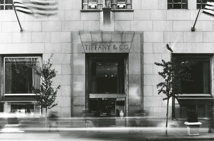 A view of the front of Tiffany & Co.'s flagship store in New York.