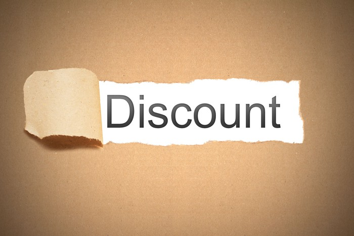 "The word ""discount"" revealed from behind a torn piece of paper"