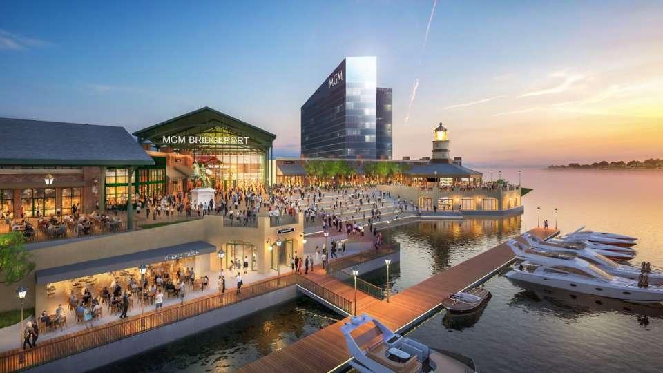 Rendering of MGM's proposed casino in Bridgeport, Connecticut.