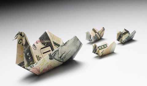 origami-duck-and-ducklings-from-dollar-bills