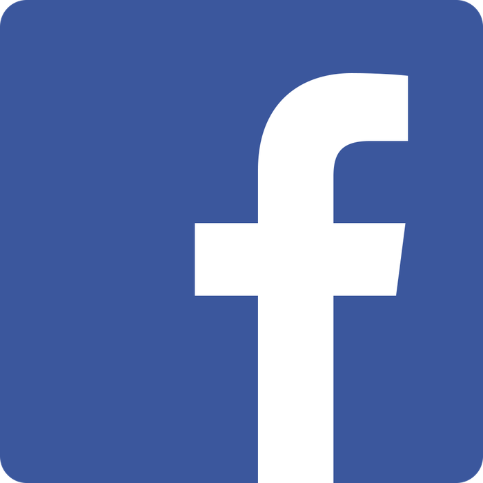 Facebook's iconic logo, white on a blue field.