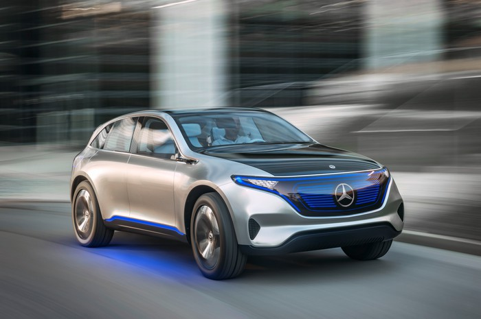 Daimler's Generation EQ concept of an electric SUV