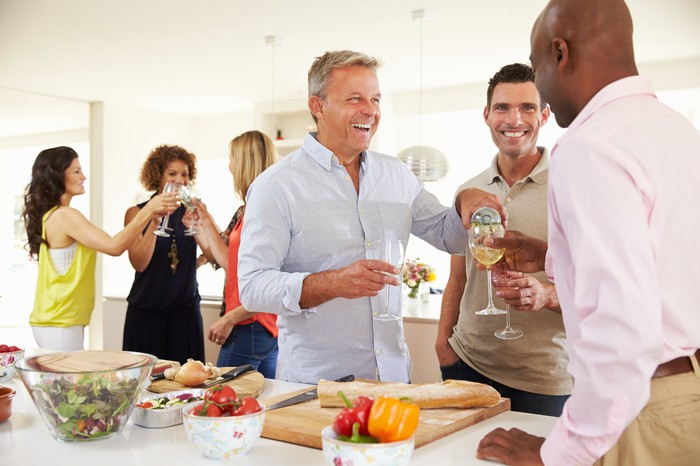 Adults at a party