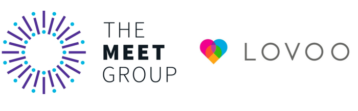 Image of The Meet Group and Lovoo logos.