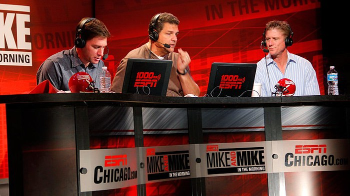 ESPN's Mike and Mike show on the air.