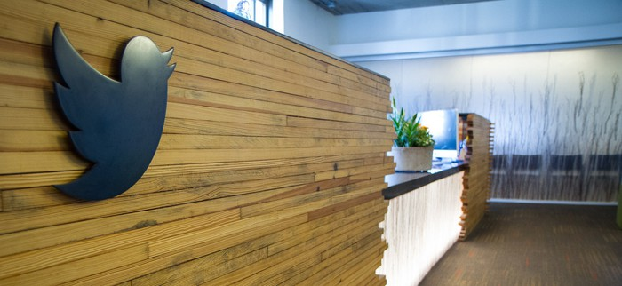 Reception desk at Twitter HQ
