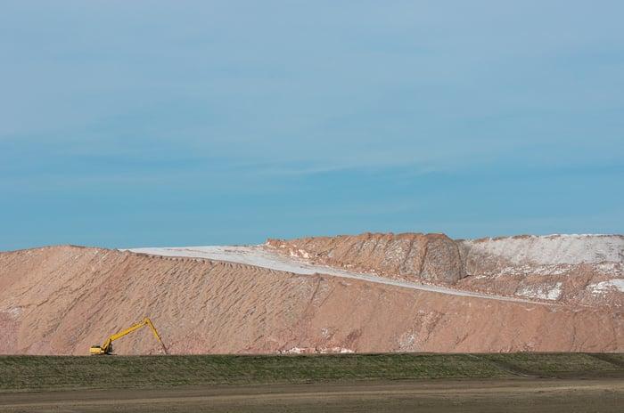 Mountain of potash