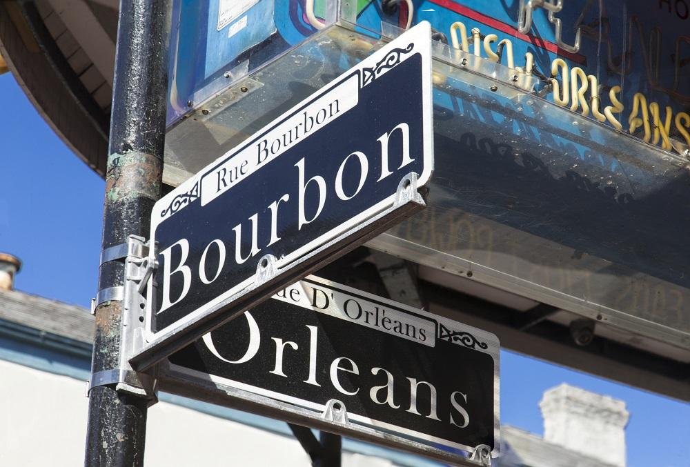 Bourbon Street sign in New Orleans, Louisiana