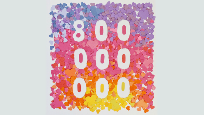 Instagram celebrates 800 million users