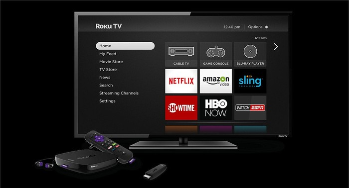 A Roku set-top box.