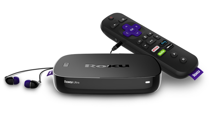 Image of Roku's new streaming box with remote.