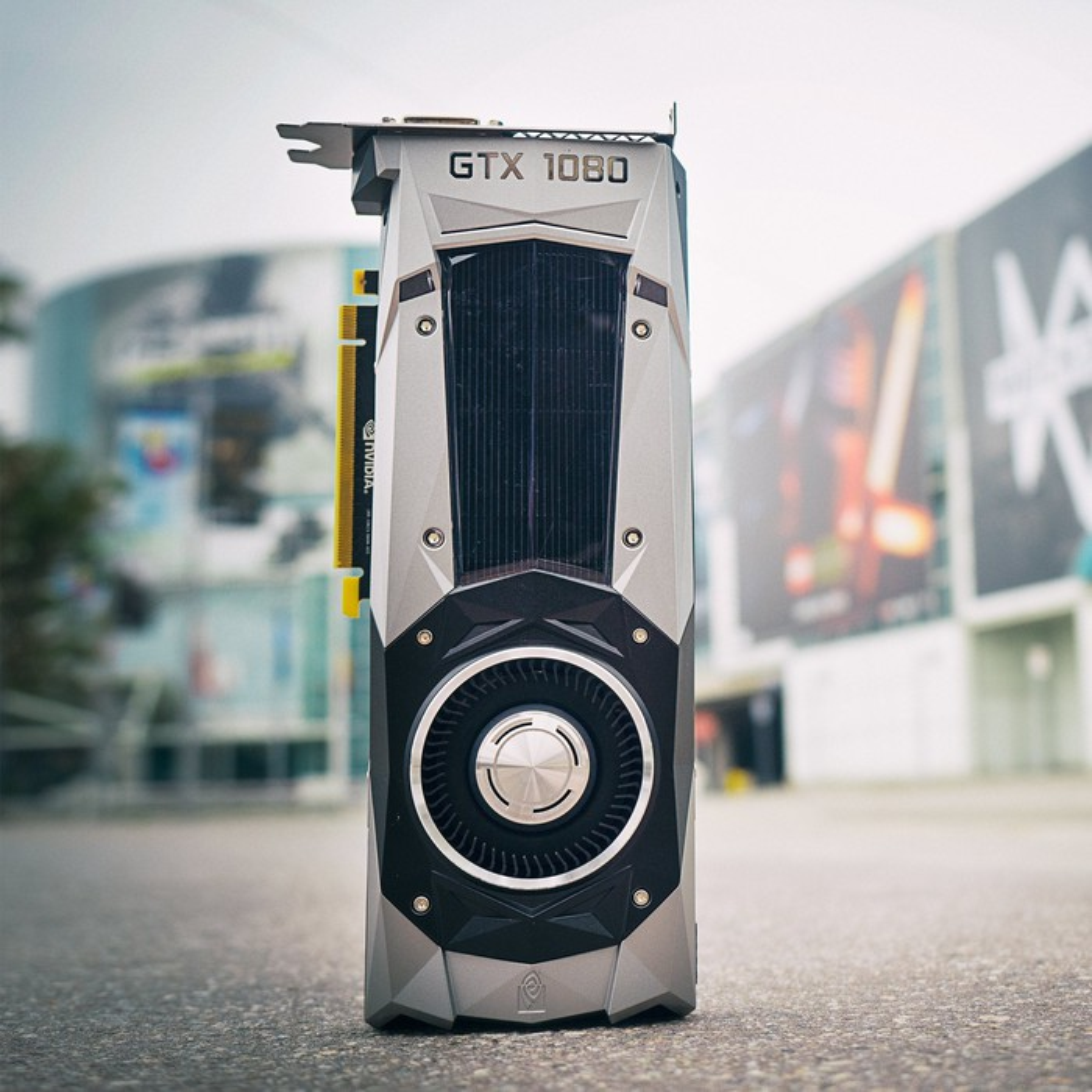 A NVIDIA GTX 1080 GPU.