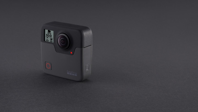 A GoPro Fusion 360 camera.