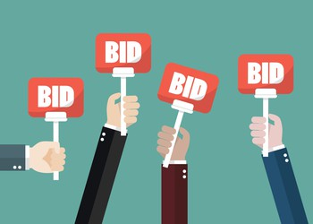 Auction bid signs