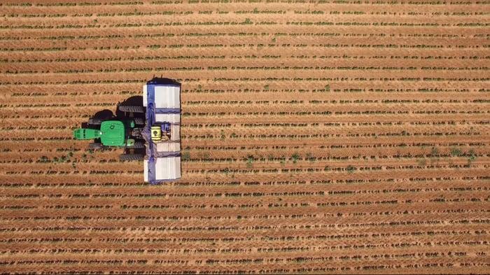 A Blue River Technology machine working a field