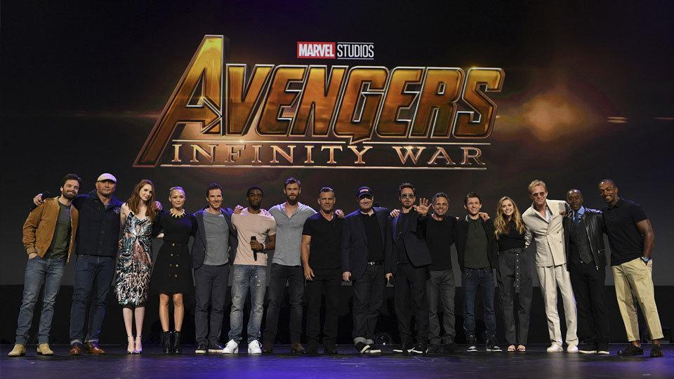 """The Avengers"" cast."