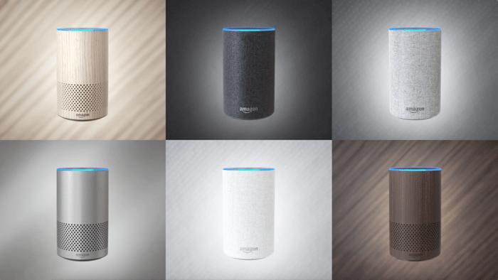 Six images of the new Amazon Echo.