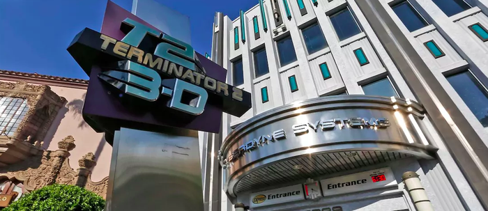 The entrance to Terminator 2: 3-D at Universal Orlando.