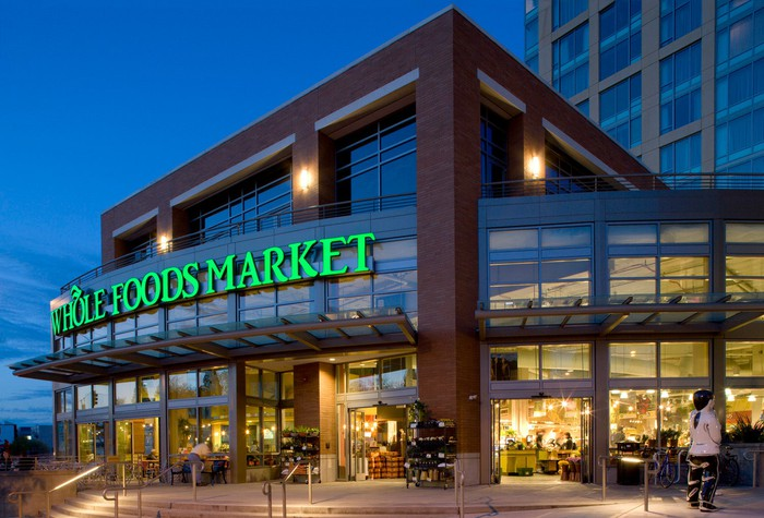 Photo of a Whole Foods Market location in downtown Seattle.