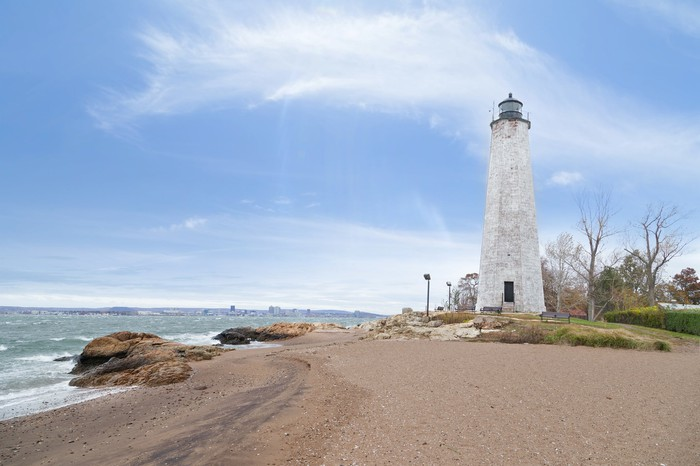 Five Mile Point Lighthouse, New Haven, Connecticut.
