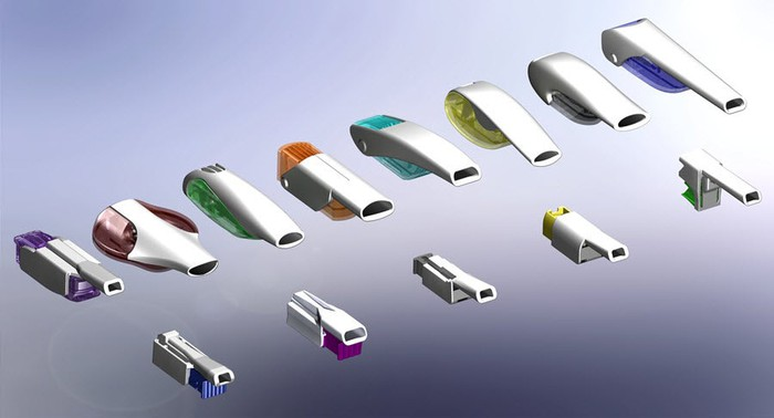 Various inhaler designs in a number of colors from MannKind.