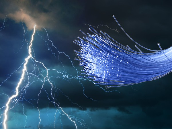 Fiber optics under dark clouds