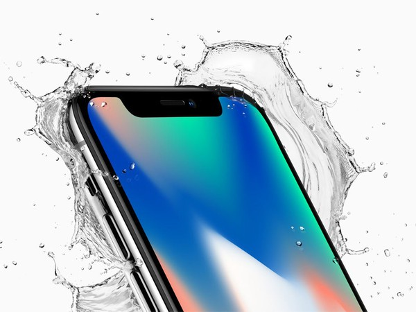 AAPL iPhone X splash