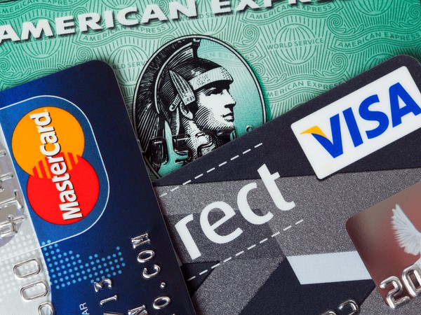 Visa Mastercard and AmEx cards