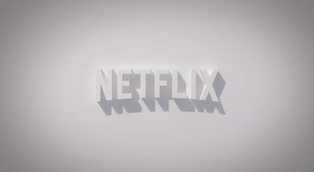 Netflix logo, embossed in white on white.