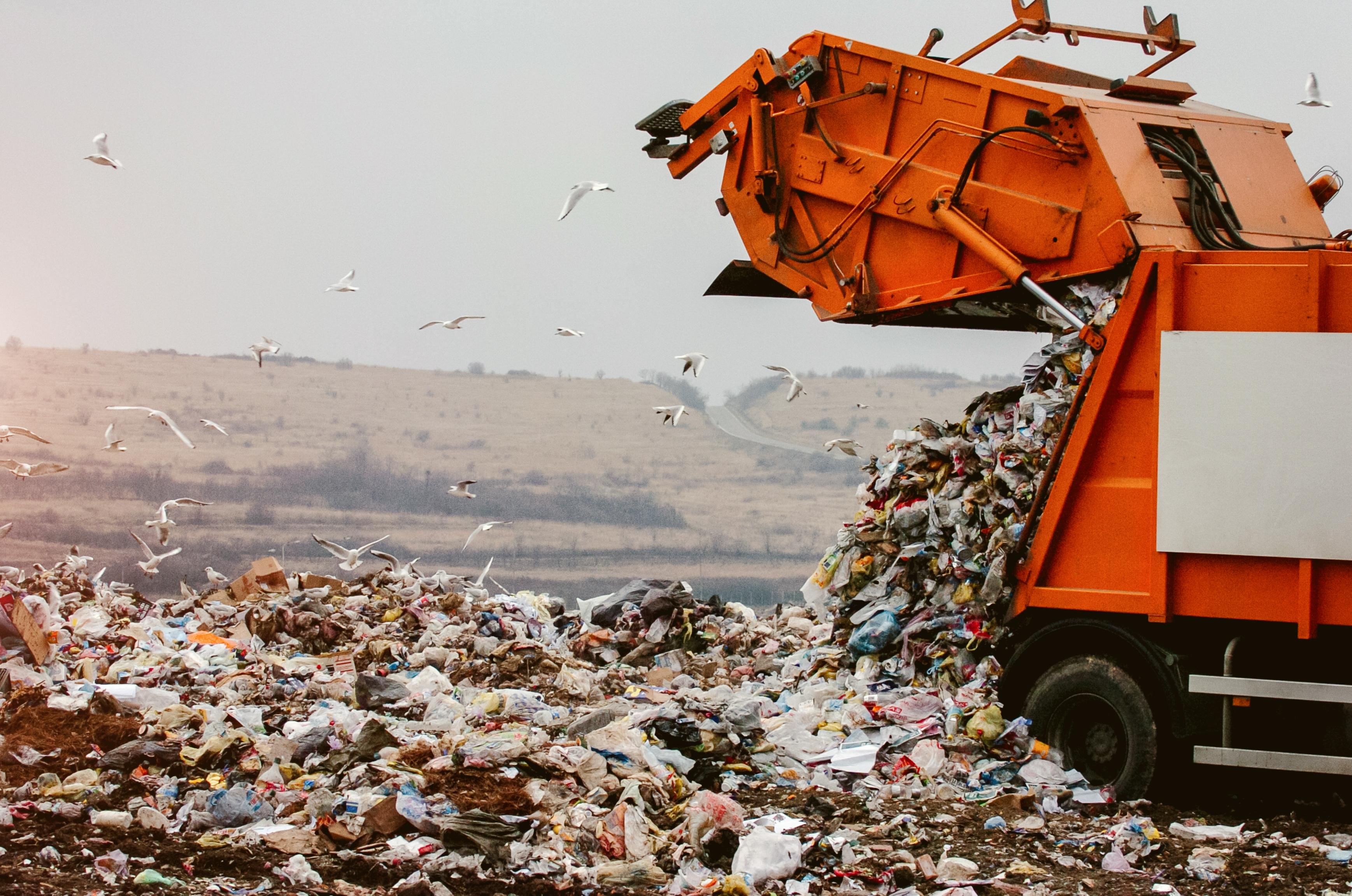 A desert landfill.