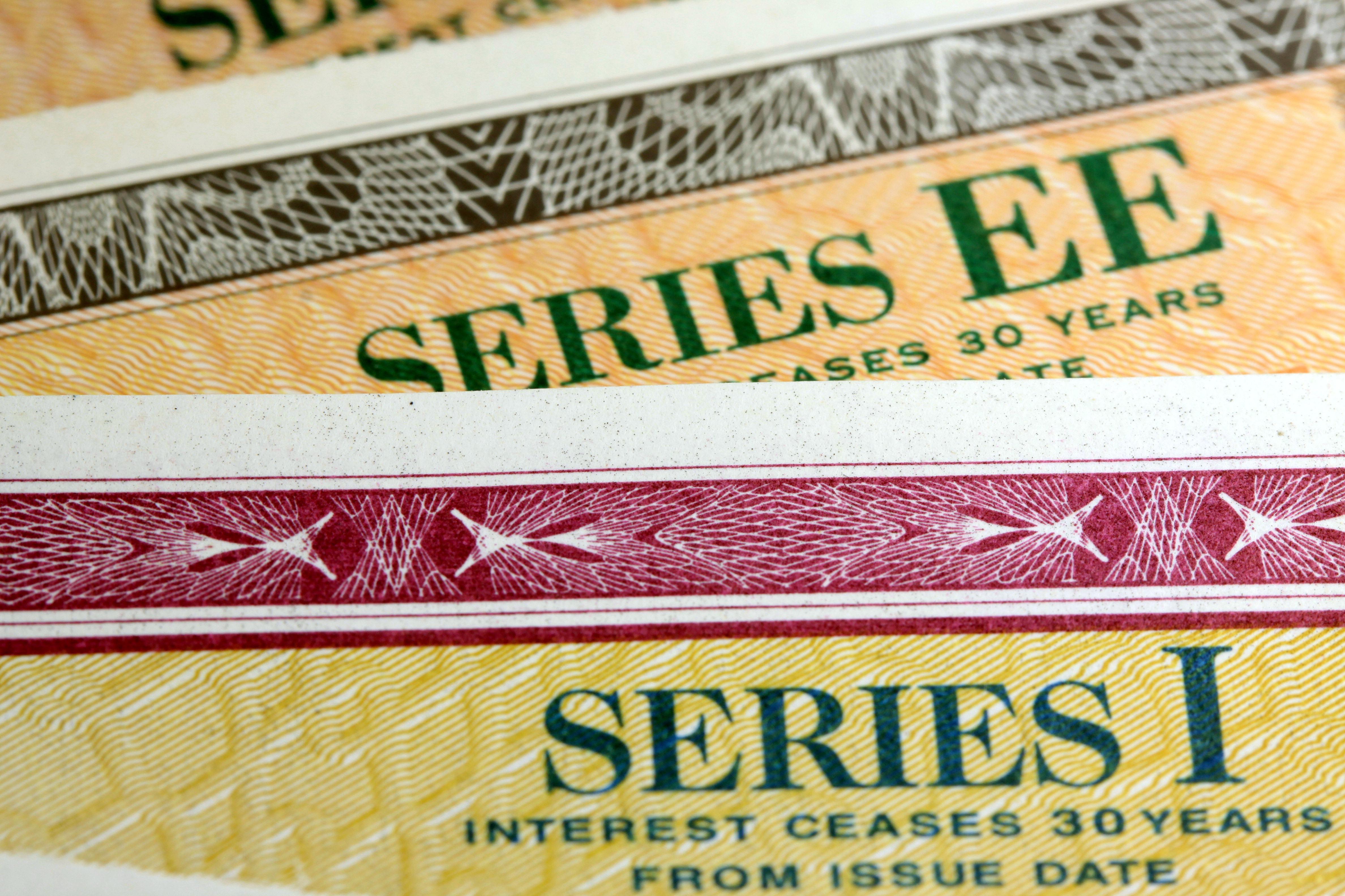 US Savings bonds, showing series numbers