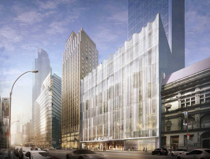A rendering of Nordstrom's upcoming Manhattan flagship store