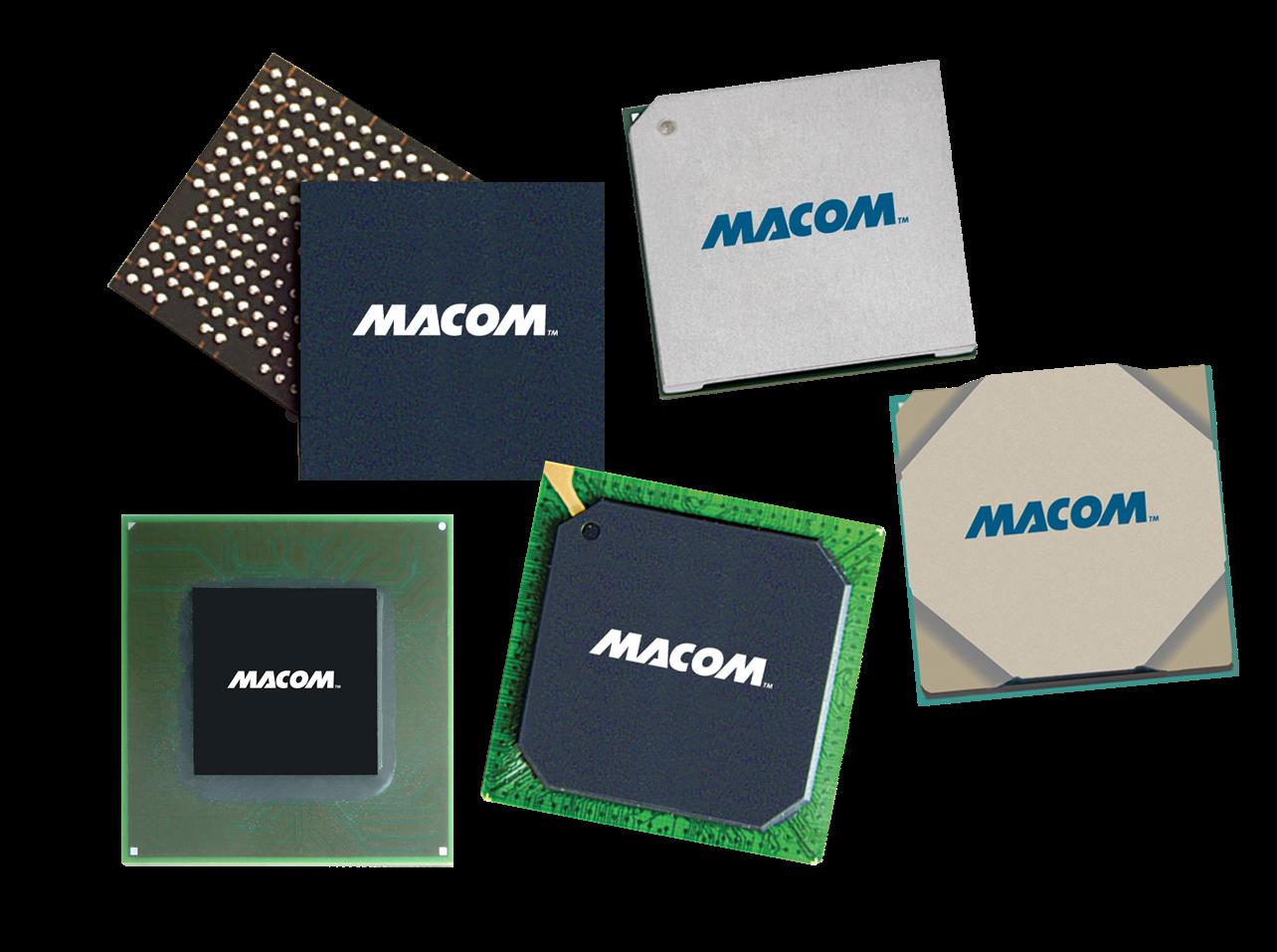 Six MACOM chips.