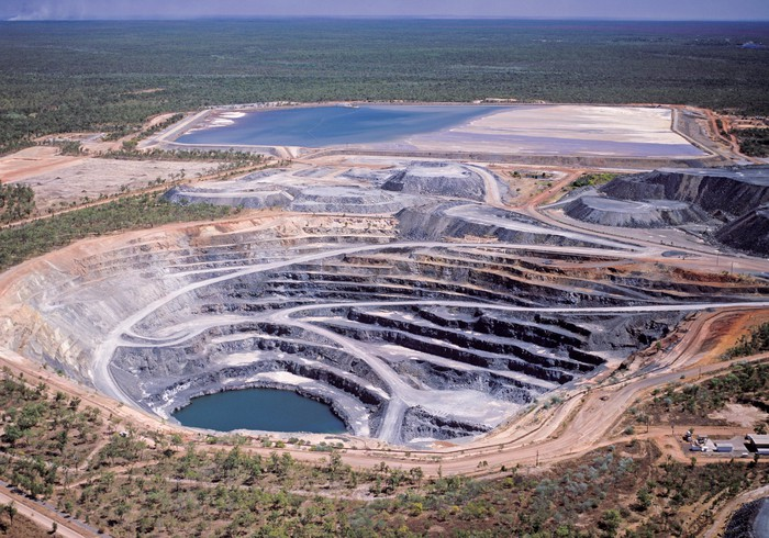 The Ranger uranium mine in Australia