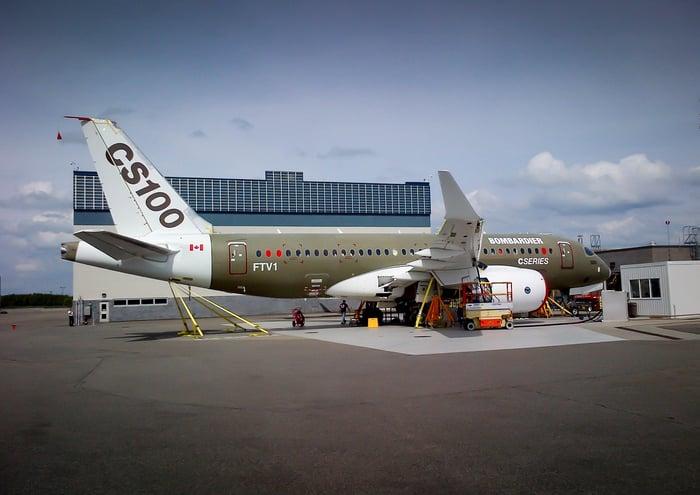 A CS100 jet on the tarmac