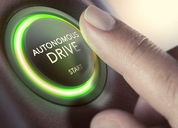 autonomous drive start button