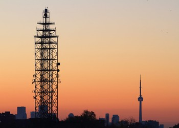 Communications tower in Canada