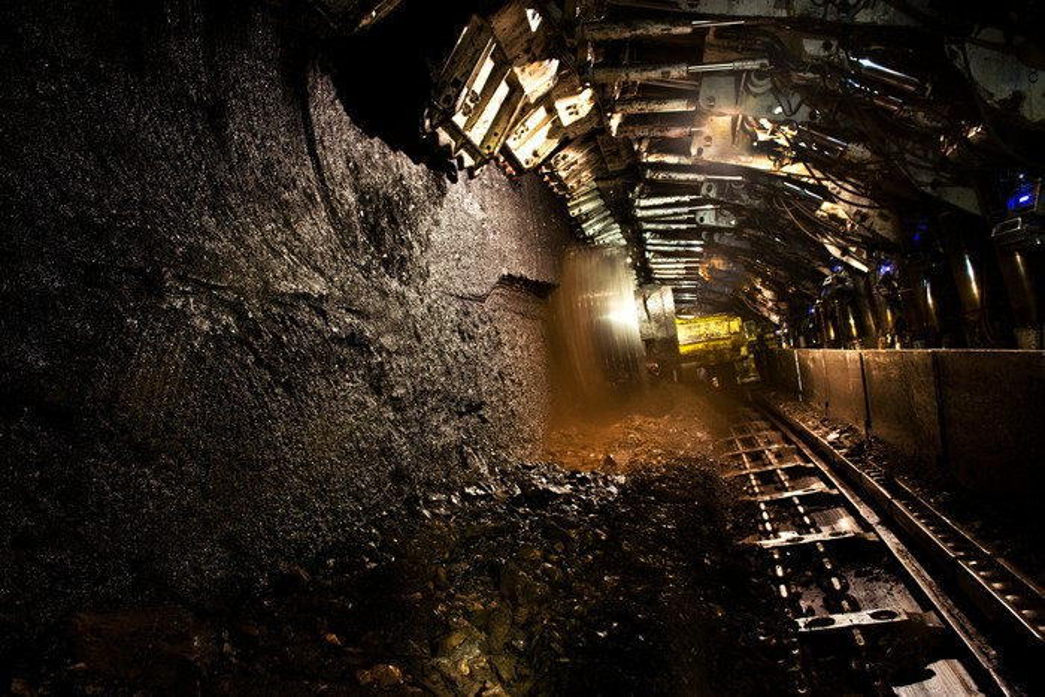 Underground coal mine tracks
