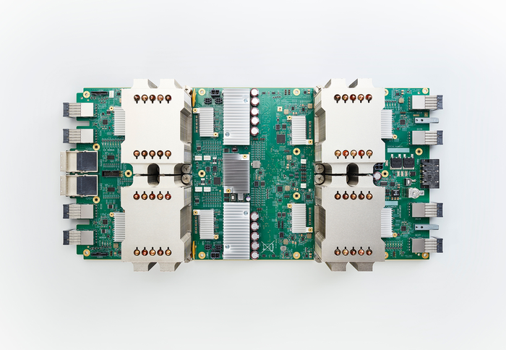 Google's Tensor Processing Unit AI chip.