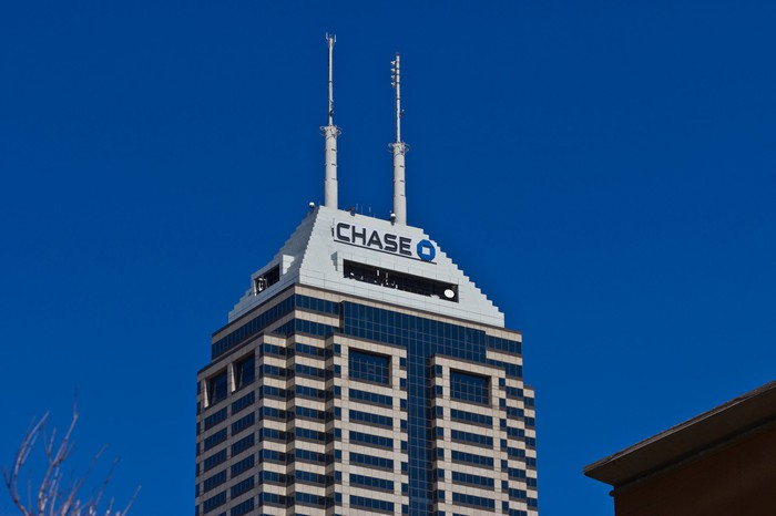 The Chase building in Indianapolis, Indiana.